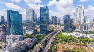 Ansicht der Stadt Jakarta